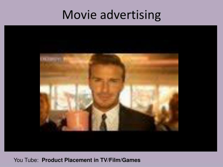Movie advertising