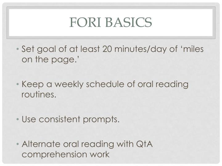 FORI Basics