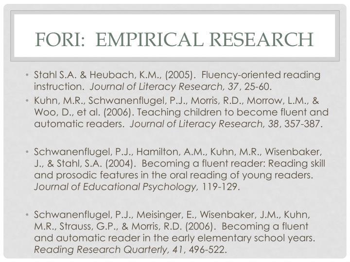 FORI:  empirical research