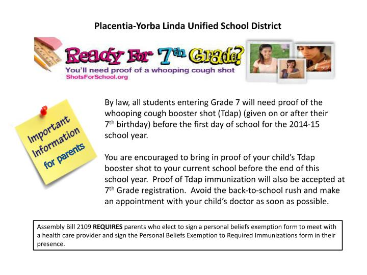 Placentia yorba linda unified school district
