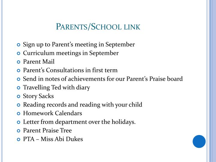Parents/School link