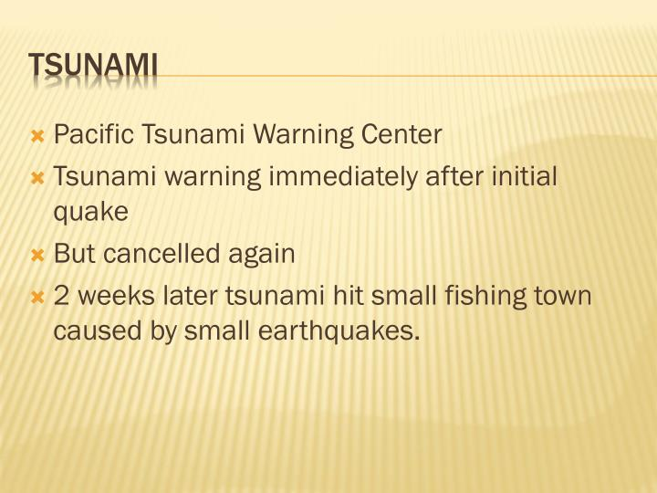 Pacific Tsunami Warning Center