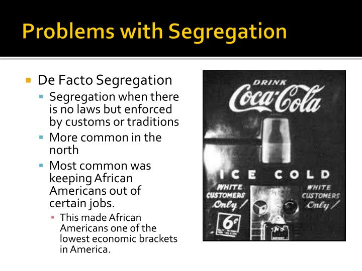 Problems with segregation1