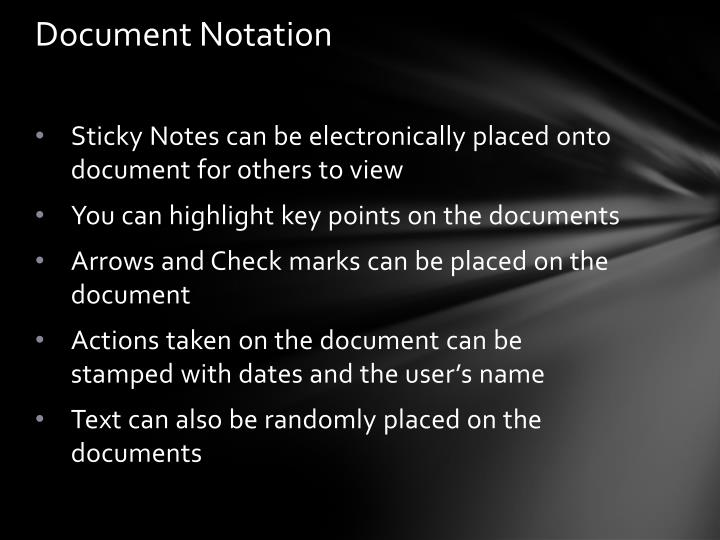 Document Notation