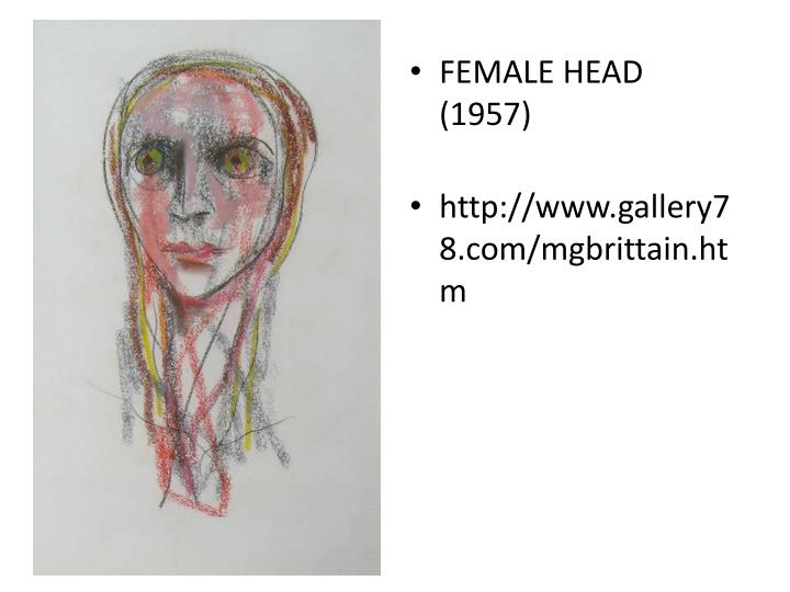 FEMALE HEAD (1957)
