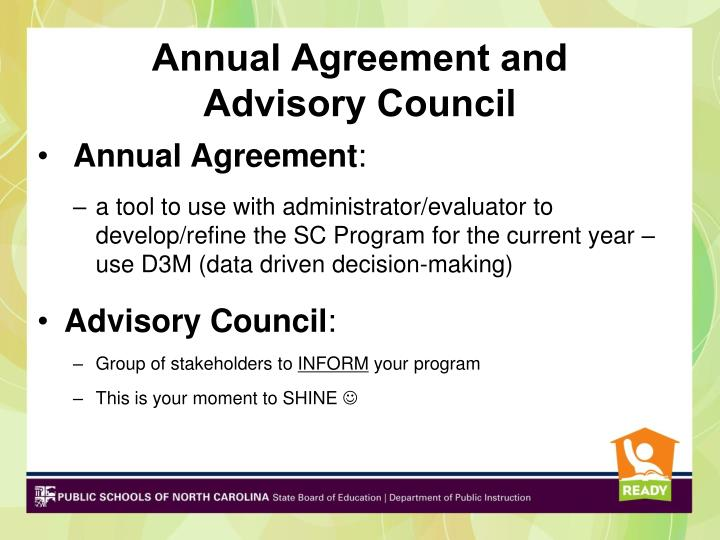 Annual Agreement and