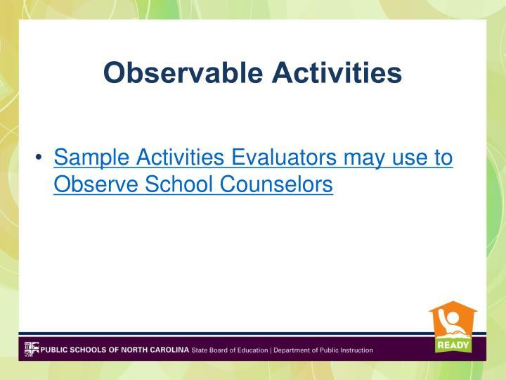 Observable Activities