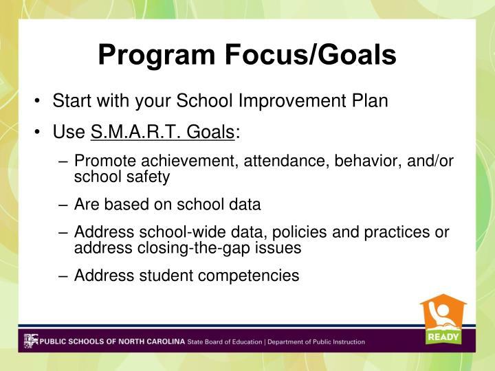 Program Focus/Goals