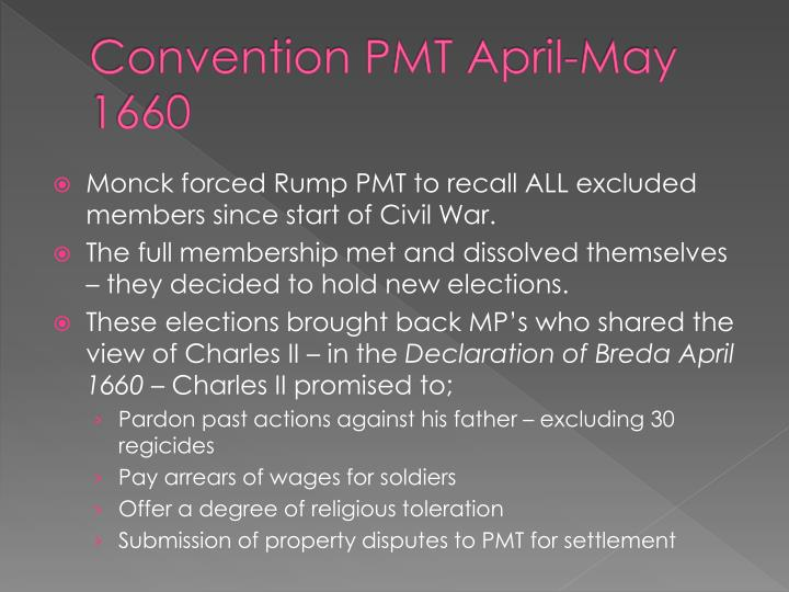 Convention PMT April-May 1660