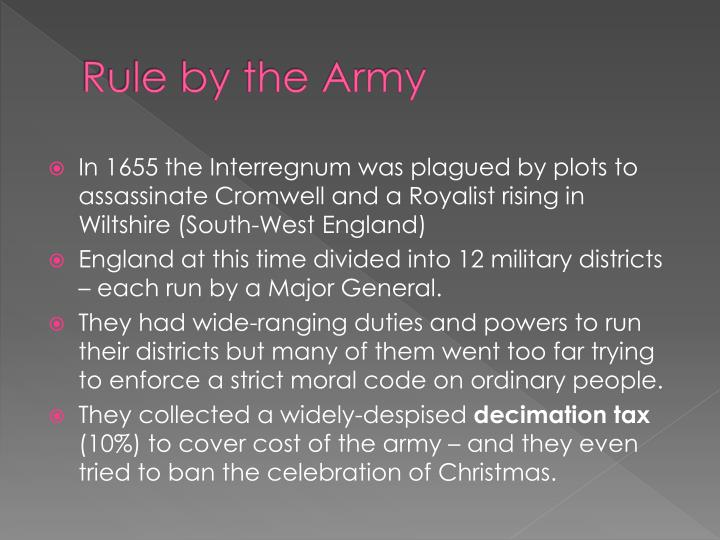 Rule by the Army