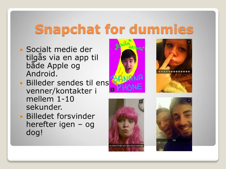 Snapchat for dummies