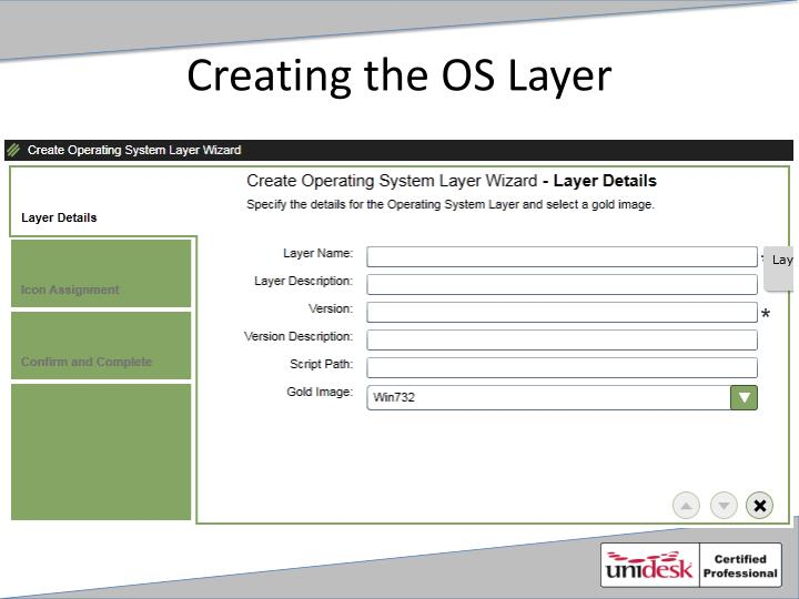 Creating the OS Layer