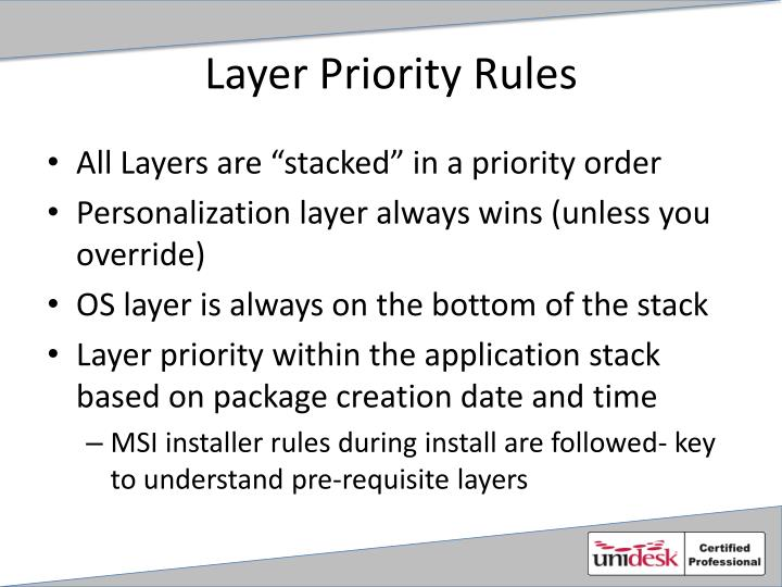 Layer Priority Rules