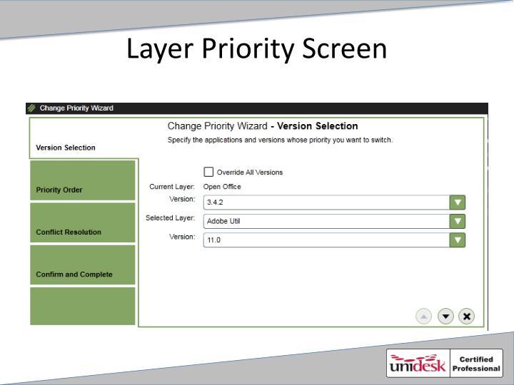 Layer Priority Screen