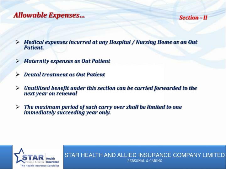 Allowable Expenses…