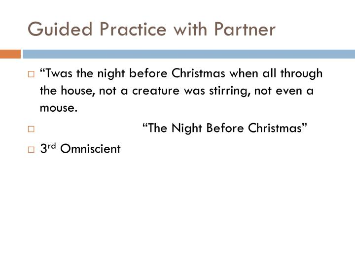 Guided Practice with Partner