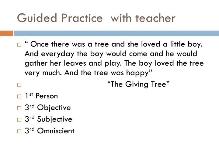 Guided Practice  with teacher