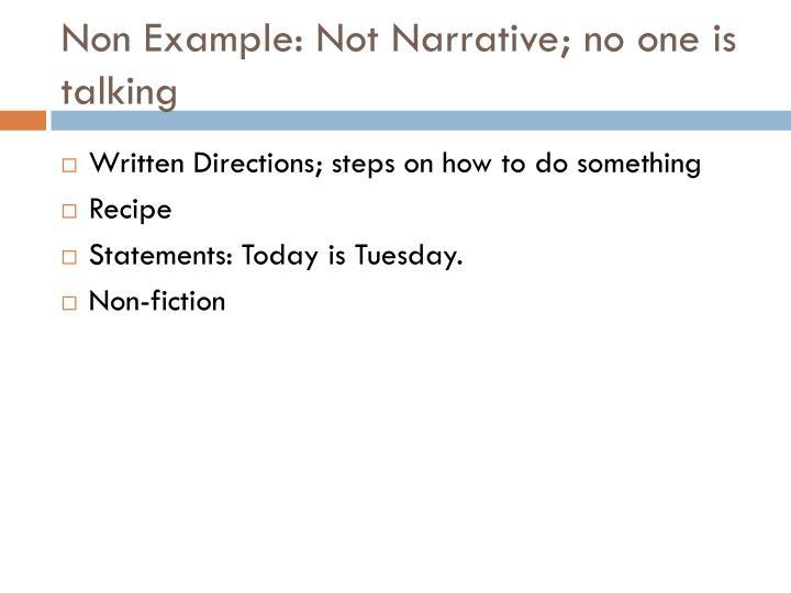 Non Example: