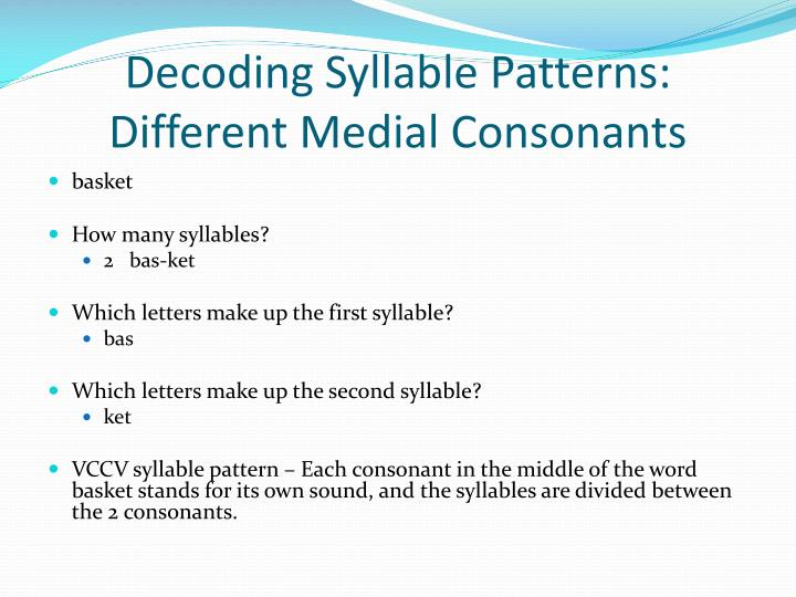 Decoding Syllable Patterns: