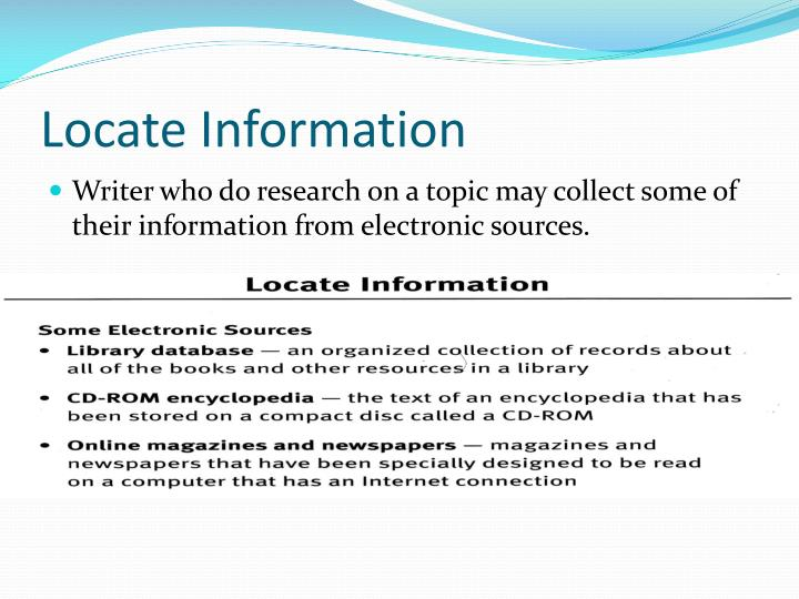 Locate Information