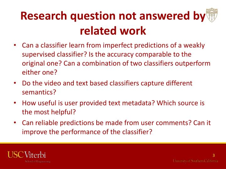 Research question not answered by related work