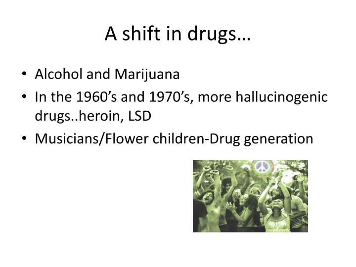 A shift in drugs…