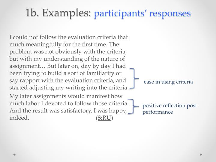 1b. Examples: