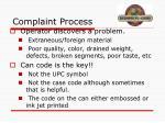 complaint process
