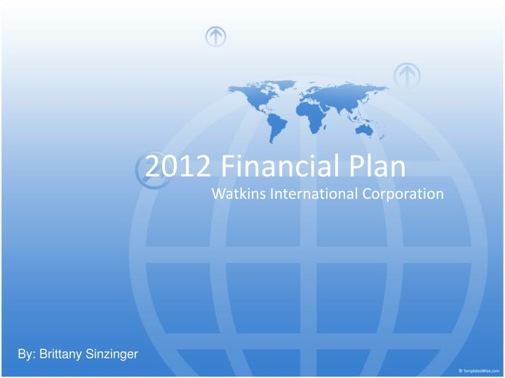 2012 financial plan