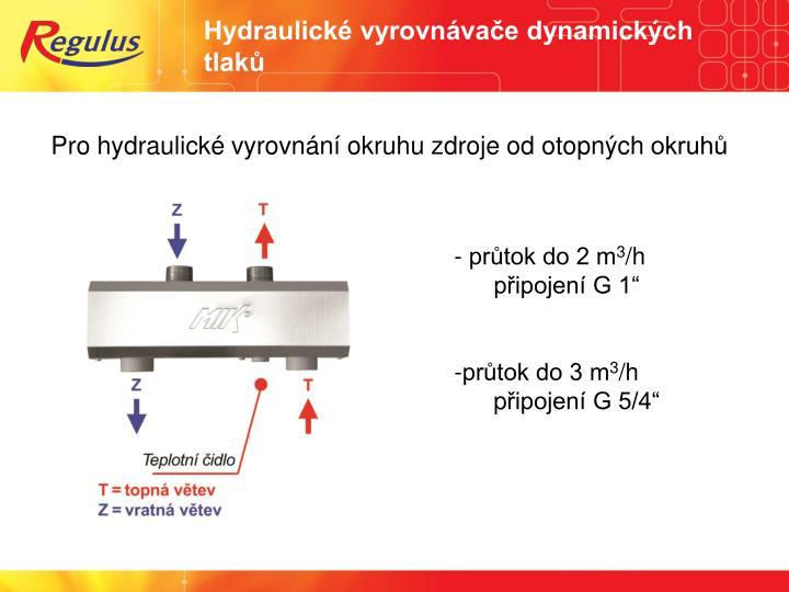 Hydraulické vyrovnávače dynamických tlaků