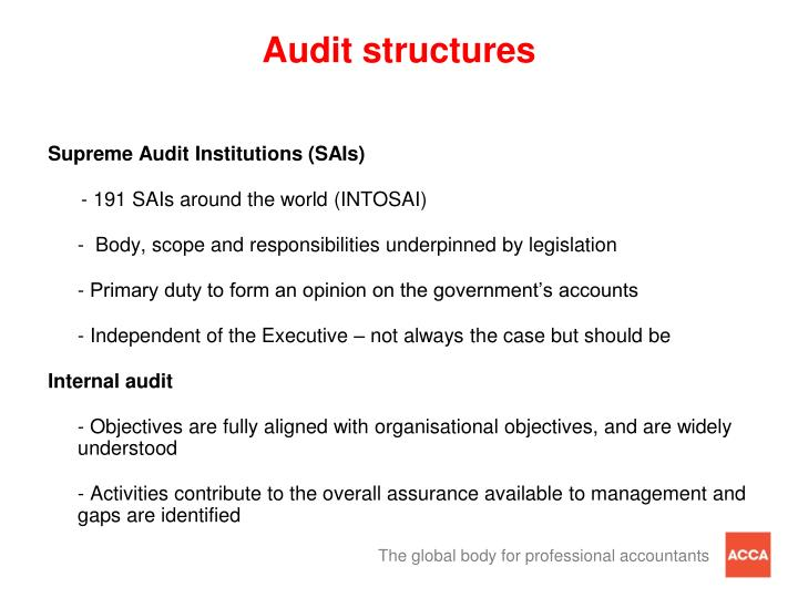 Audit structures