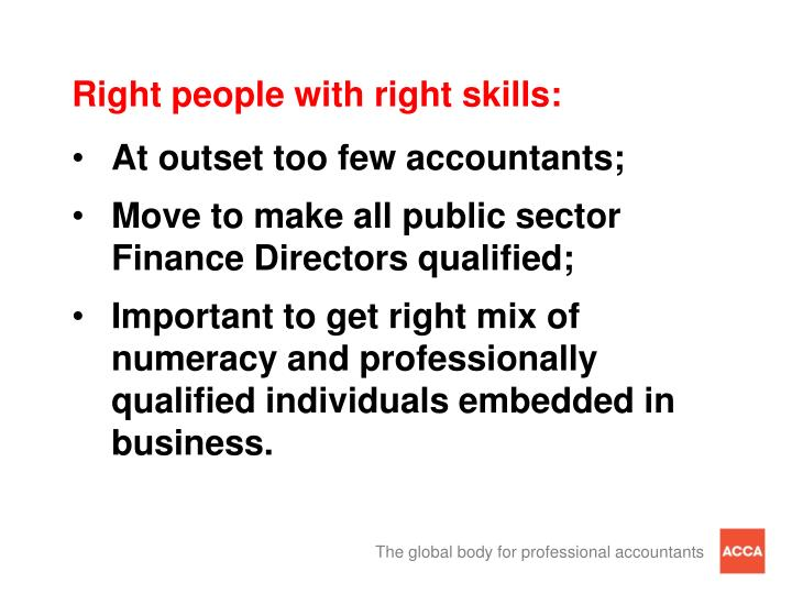 Right people with right skills: