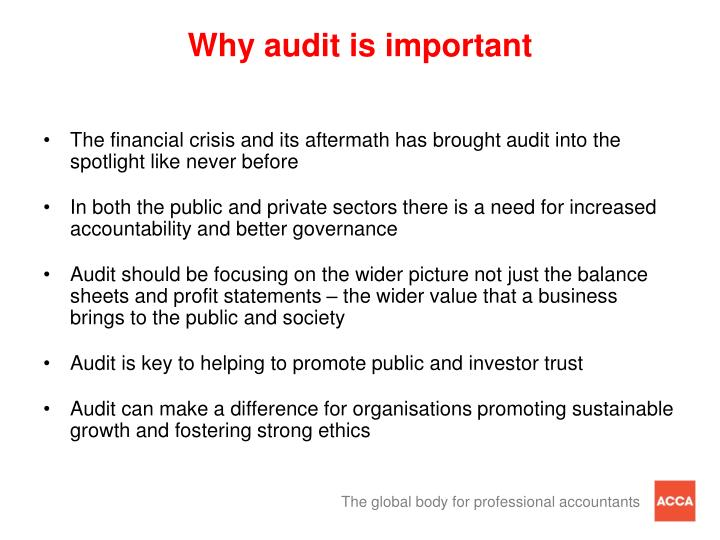 Why audit is important