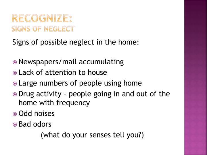 Recognize: