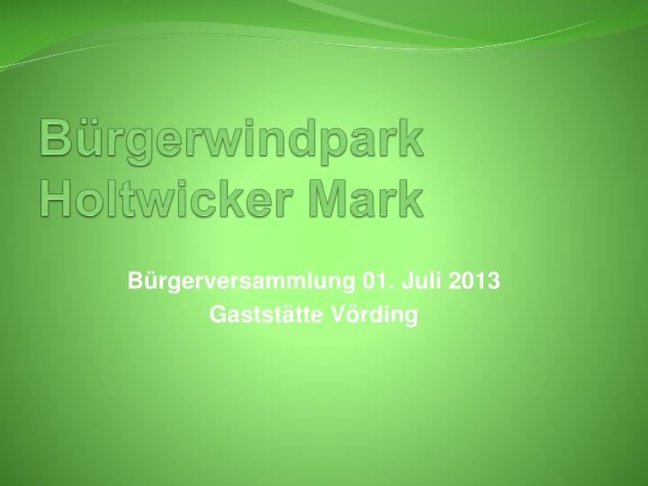 B rgerwindpark holtwicker mark