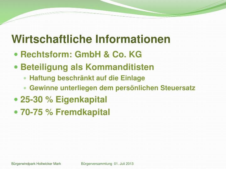 Wirtschaftliche Informationen