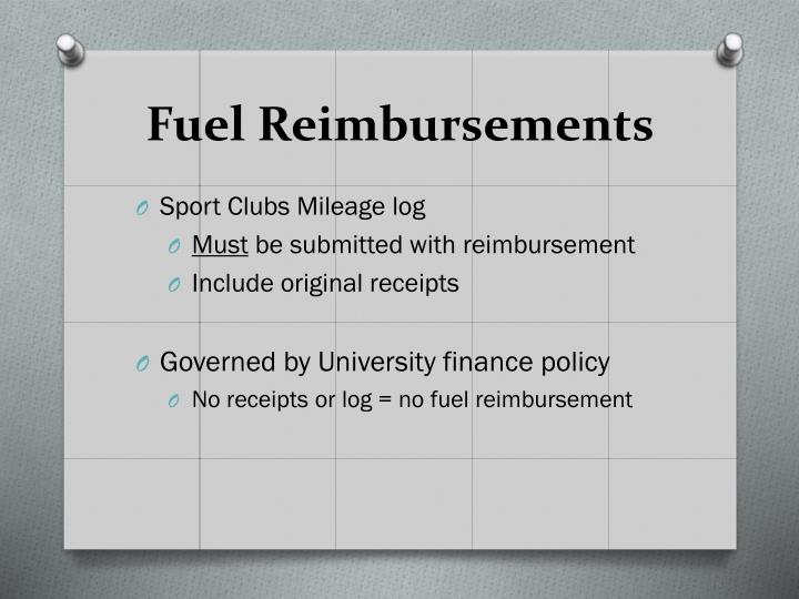 Fuel Reimbursements