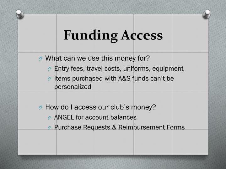Funding Access