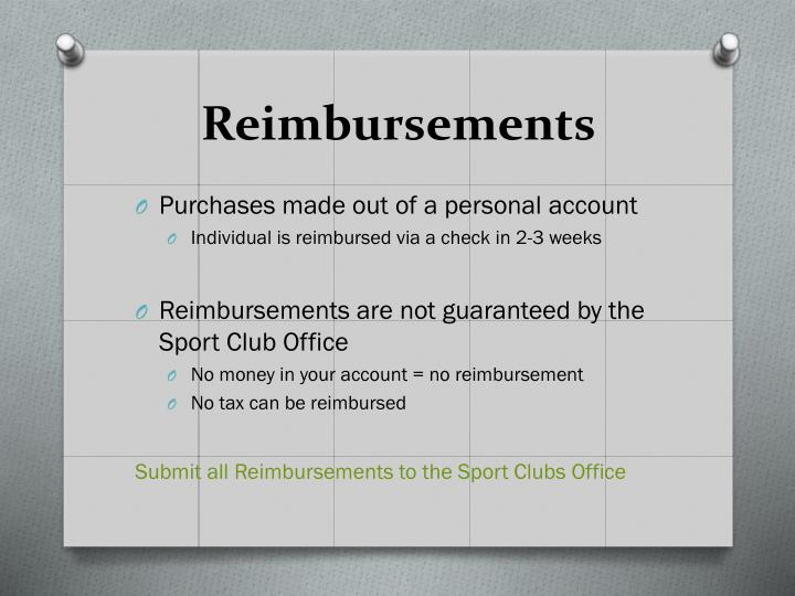 Reimbursements