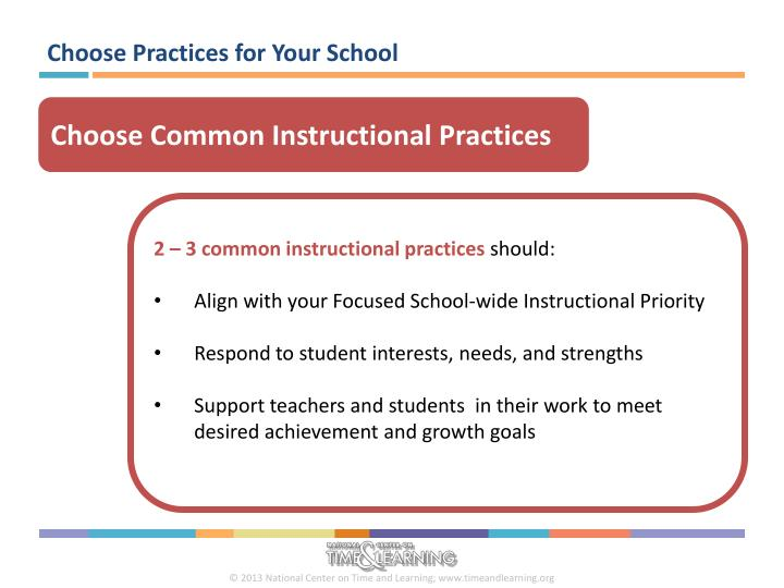 Choose Practices for Your School