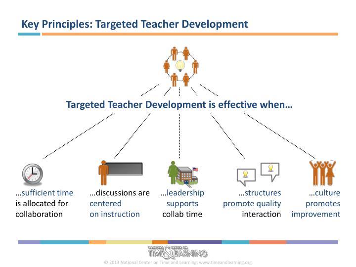 Key Principles: Targeted Teacher Development