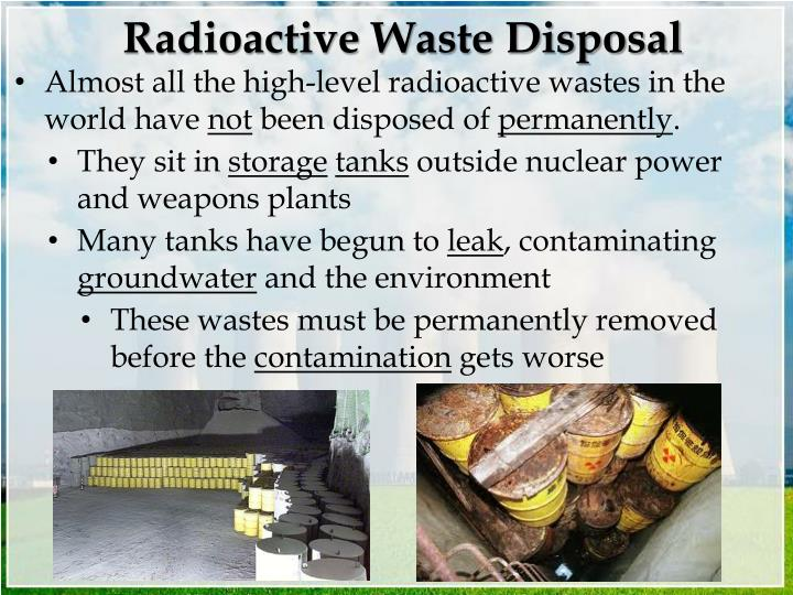 Radioactive Waste Disposal