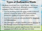 types of radioactive waste1