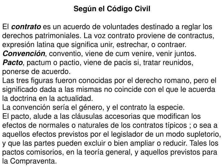 Según el Código Civil