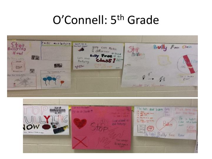 O'Connell: 5
