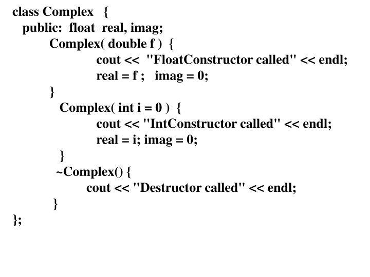 class Complex   {