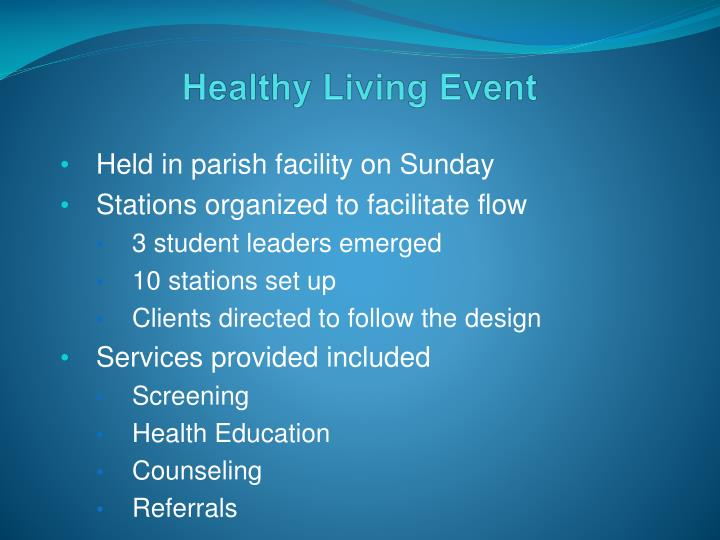 Healthy Living Event