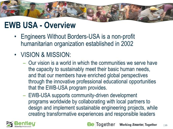 EWB USA - Overview