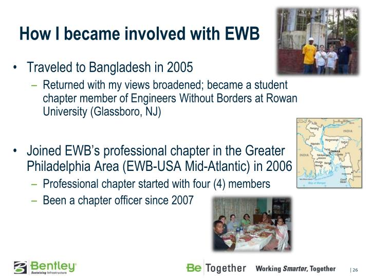 How I became involved with EWB