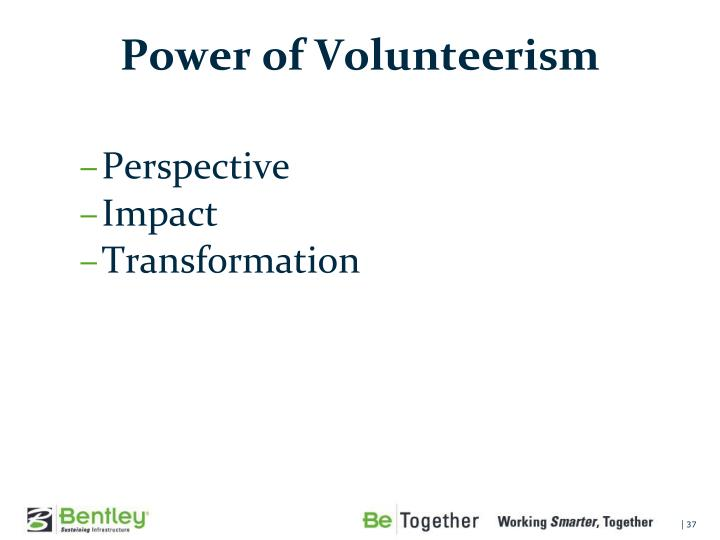 Power of Volunteerism